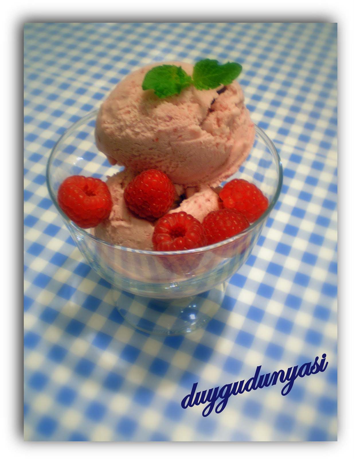 Frambuazlı Dondurma Tarifi
